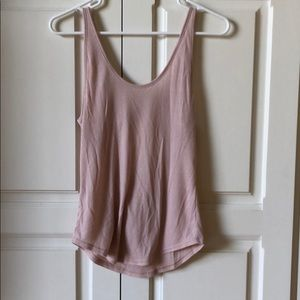 Alo pink tank with cut out in back